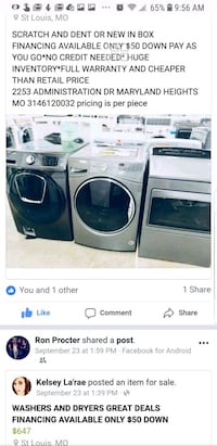 Washers & dryers brand new Samsung  St. Louis, 63146