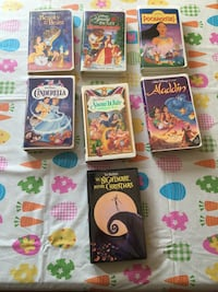 Lot of 7 Disney VHS Classic Movies