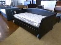 Espresso leather day bed available now sale Phoenix, 85018