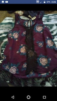 purple and black floral print textile Roscommon