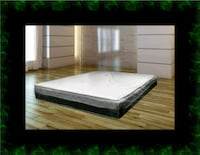 Single-sided pillowtop mattress with box all size Herndon, 20171