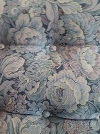 white and blue floral textile IRVINE