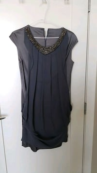 Silk Dress (Silver Gray colour)