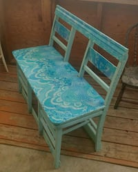 Unique Wood Folding Bench Seat Repurposed Vintage Chairs Grand Junction
