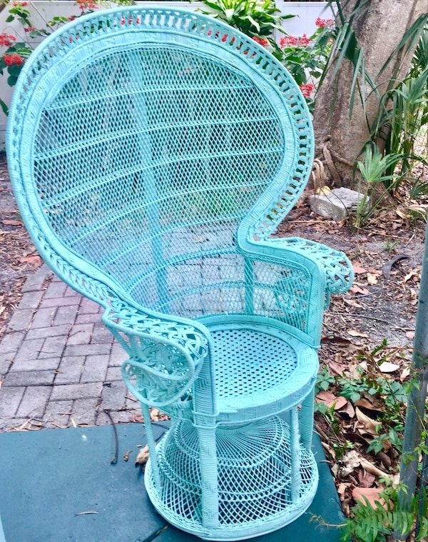 Fabulous Stunning Vintage Rattan Wicker Peacock Chair Gmtry Best Dining Table And Chair Ideas Images Gmtryco