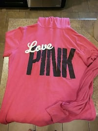 pink and black Pink by Victoria's Secret hoodie