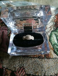 Authentic Diamonds, 925 Sterling Silver Ring...