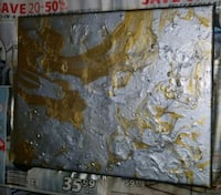 Silver and gold painting  Surrey, V3V 4X6
