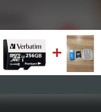 New 256gb verbatim sd card with adapter  Toronto, M9L 2H8