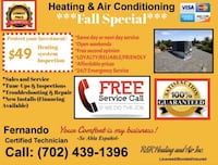 Heating/Fireplace service and repair. North Las Vegas