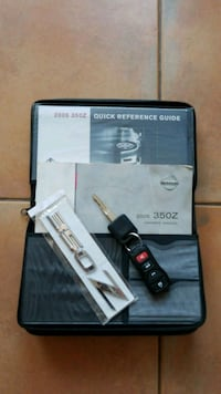 350Z owners manual, electronic key and badge Clearwater, 33755