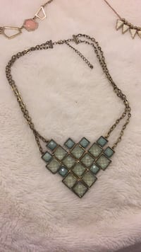 Gold and turquoise necklace  Toronto, M1P 5C4