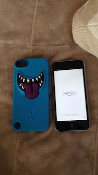 black iPhone 7 with blue case Coquitlam, V3E 2H4