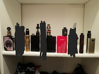 five assorted color box mods