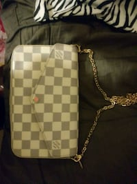 white and gray checkered leather crossbody bag San Francisco, 94112