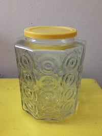 Vintage glass container mid-century Monroeville, 15146