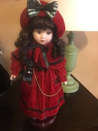 red and black dressed porcelain doll Manassas, 20110
