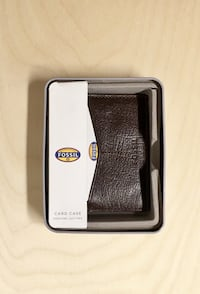 FOSSIL WALLET CARD CASE GENUINE LEATHER NWT BRAND NEW GIFTS ACCESSORIES MENS CLOTHING Edmonton, T6H