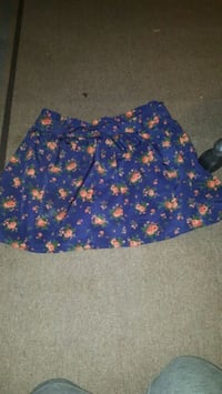 blue and brown floral mini skirt Riverside, 92509
