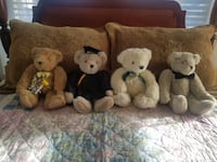 Four Adorable Teddy Bears-Perfect for any occasion or age!