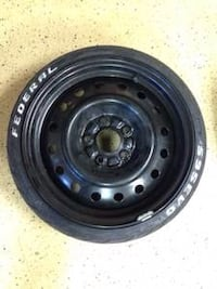 Black bullet hole car wheel and fideral tire