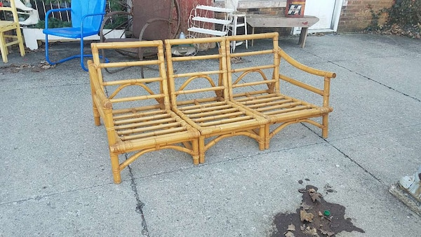 Mid Century Modern Bamboo Outdoor Furniture