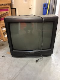 black CRT TV with remote New York, 11385