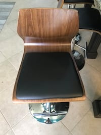 Brown and black leather padded bar stools - 150 for all four stools   Las Vegas, 89145
