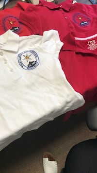 two white and red polo shirts Winston-Salem, 27106