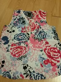 white, red, and blue floral sleeveless dress Toronto, M4A 2X9