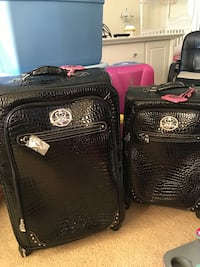 Black leather luggage Annandale, 22003