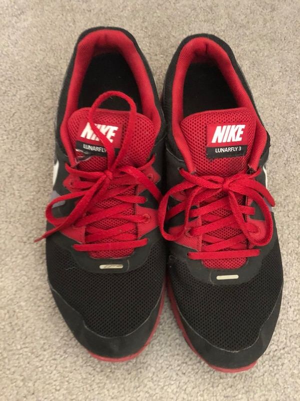 f62ac7bc6c68 Used Men s Black and Red Nike Lunarfly 3 for sale in Hayward - letgo