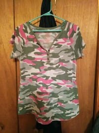 white, green, and red camouflage polo shirt Morristown, 37813