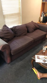 brown fabric 3-seat sofa Burnaby, V5G 2J4