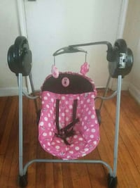 baby's pink, gray and black swing chair Maryland, 20737