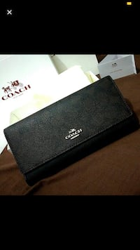 black Gucci leather wallet with box Changi, 508769