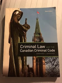 Criminal law and the Canadian criminal code Vaughan, L6A 3T2