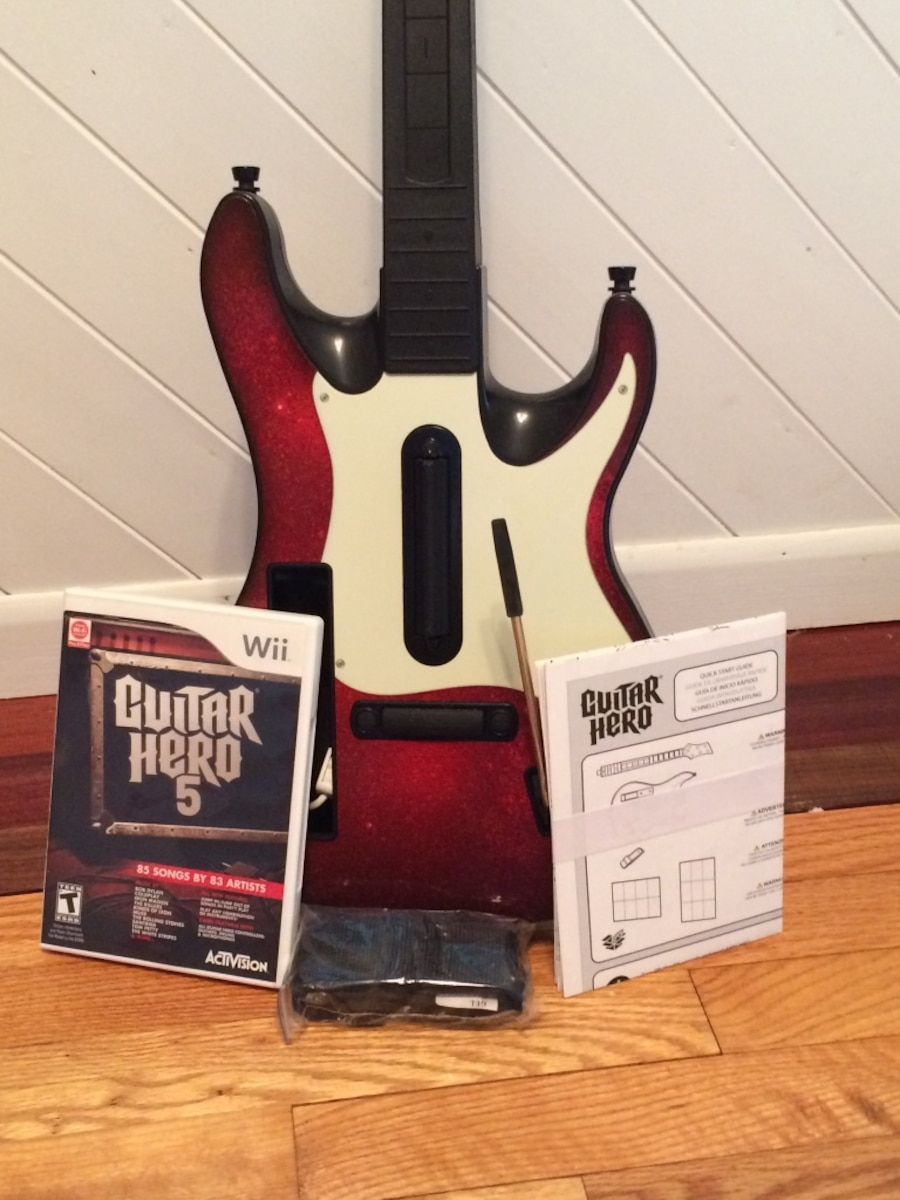 Guitar Hero 5 Guitar and Game for Wii - Soderville
