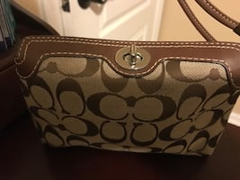 Coach cosmetics bag with paper bag coach