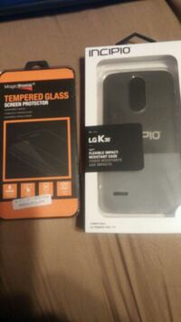 Case and screen protector lg k30 brand new Schenectady, 12303
