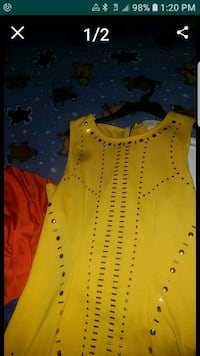 yellow and black sleeveless top Frederick, 21702