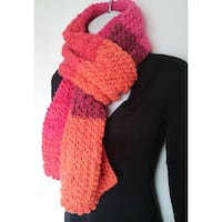 New Hand knitted Scarf Scarlet Sizzle  Burnaby