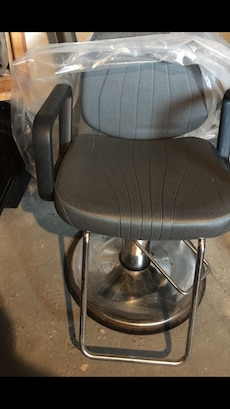 stainless steel frame black parlor chair