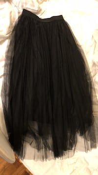 Black tulle long skirt. Fits small size Vancouver, V6B