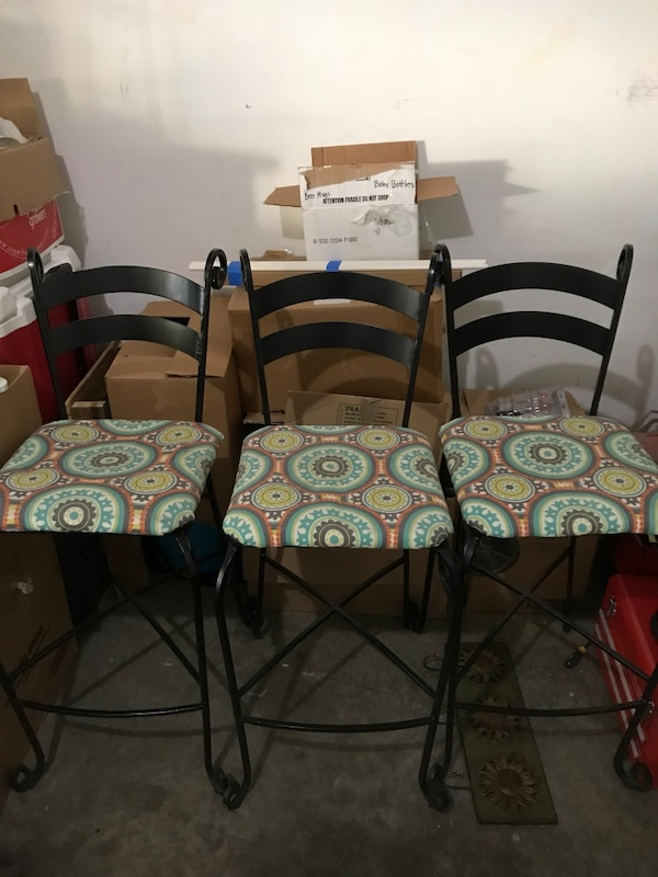 Used Pier 1 Rod Iron Bar Stools For Sale In Woodstock Letgo