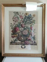 gold wood-framed painting of pink, purple, and yel Cudahy, 90201