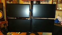 4 22 inch Asus monitors and mount $180 OBO Columbus, 43229