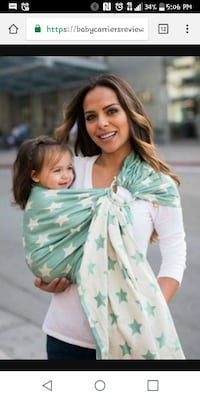 Tula ring sling baby carrier