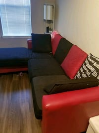 red and black sectional couch Wheaton-Glenmont