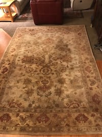 brown and white floral area rug Liberty Lake, 99019